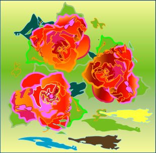 Abstract graphic - Roses