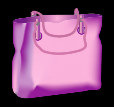 Purple Bag 2 - Graphic Design with Adobe Illustrator