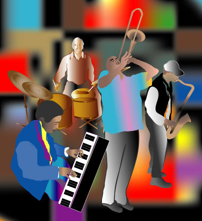 Jazz Band - Graphic Design with Adobe Illustrator