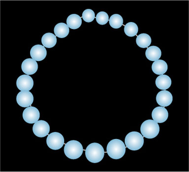 Blue Pearls - Graphic Design with Adobe Illustrator